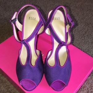 Elle brand new Purple t strap sexy shoes💜👠
